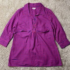 Gap Maternity Boyfriend Fitted Shirt M